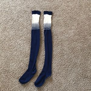 Thigh high navy socks